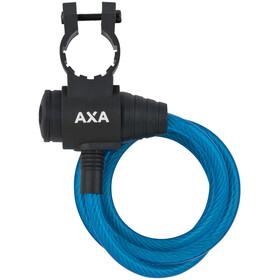 Axa Zipp Candado Cable Espiral Ø8mm 120cm, blue